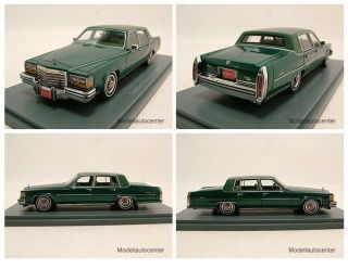Cadillac Fleetwood Brougham 1980 grün metallic, Modellauto 143 / Neo