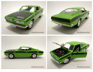 Plymouth Barracuda 1969 grün/schwarz, Modellauto 118 / Yat Ming