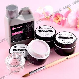 Acryl Puder Pulver 15g klar weiss rose Set Acryl Liquid Fluessigkeit
