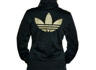 adidas adi firebird jacke damen women schwarz gold. Black Bedroom Furniture Sets. Home Design Ideas