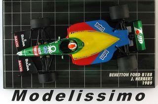 43 Minichamps Benetton Ford B188 Herbert 1989 ltd.