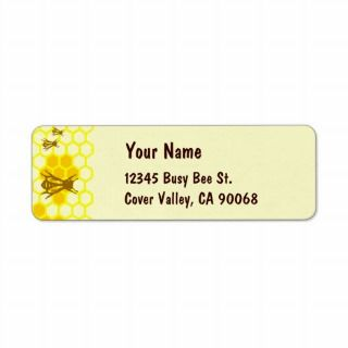 Honey Bee Honeycomb Custom Address Labels