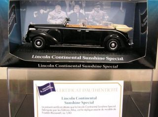FORD LINCOLN CONTINENTAL SUNSHINE 143 YALTA 1945 ROOSEVELT STALINE