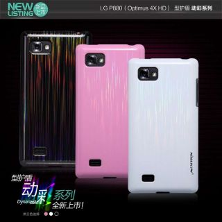 Nillkin Dynamic Color Hard Cover Case + LCD Guard fr LG P880 Optimus