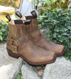 SENDRA Leder Stiefelette Braun Gr. 43 Biker BOOTS Stiefel Mad Dog
