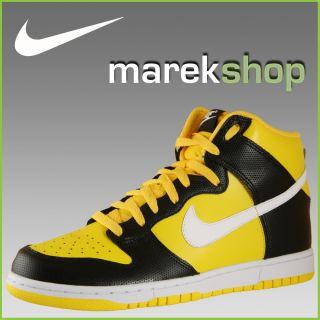Nike Dunk High Schuhe Neu Gr 44 schwarz gelb Sneaker Leder 317982 703