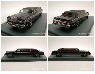 Car 1985   1990, Stretchlimousine schwarz, Modellauto 143, Neo