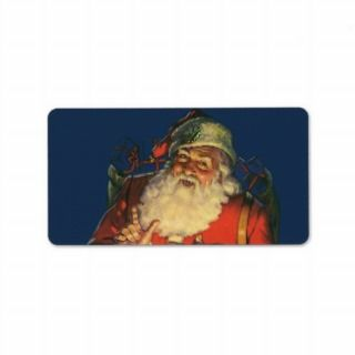 Vintage Santa Claus with Toys on Christmas Eve Custom Address Label