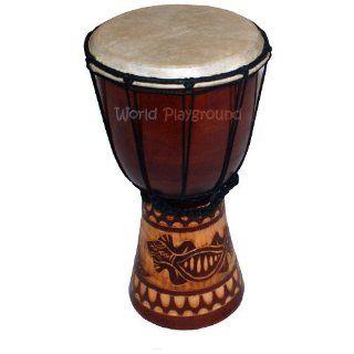 Geschnitzte Djembe Trommel   West Afrikanische Bongo Trommel, 30 cm