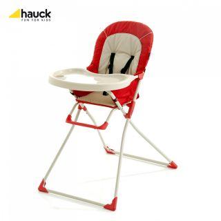 HAUCK HOCHSTUHL MAC Farbe rot Kinderstuhl Kombihochstuhl Babystuhl