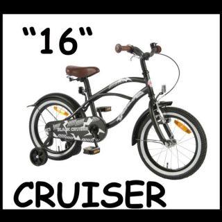 16 Zoll Jungen Kinder Fahrrad Black Cruiser Retro Nostalgie Biker