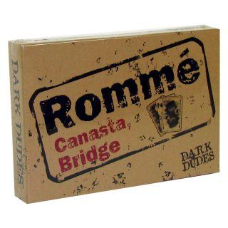Romme Canasta Bridge Dark Dudes Kartenspiel 2x55 Karten