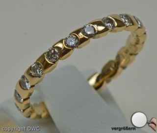 Ring Ringe 18 Kt 750 Gold Wempe Markenring Brillanten Damen 58