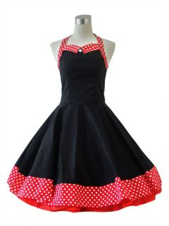 50S 60S Vintage Stil Rock n Roll ROCKABILLY SWING KLEID petticoat Gr