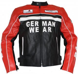Rad Masters, Motorrad Lederjacke Motorradjacke aus Rindsleder jacke
