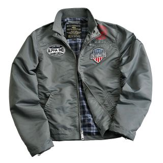 Alpha Industries Mechanic II gunmetal Pilotenjacke Bomberjacke