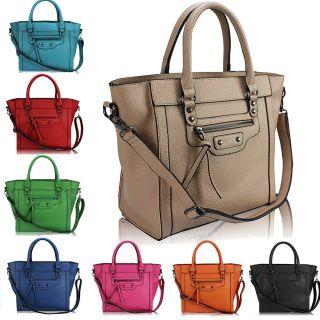 Ladies Womens Vintage Shoulder Bag Satchel Tote Handbag
