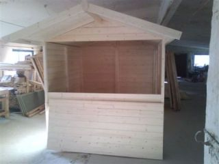 Verkaufsstand Weihnachtsstand Marktstand Holzstand Gartenhaus