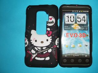 HTC EVO 3D PUNK ROCKER HELLO KITTY HARD CASE