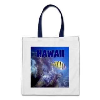 Hawaiian Sea Turtle scenes Canvas Bags