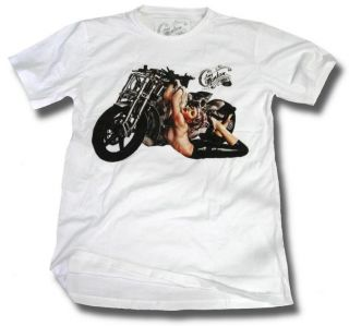 Shirt Rockabilly Sexy Pin Up Girl 50er Retro Tuning Biker Motorcycle