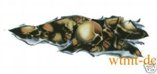 Aufkleber Shred Skull Right Zerfetzter Totenkopf rechts Airbrush Tank