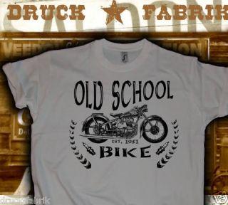 old school Biker T Shirt, AWO Shirt, Oldtimer T Shirt