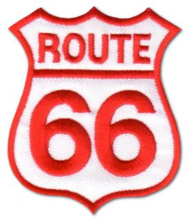 ROUTE 66 ★ Biker Motorcycle Patch Aufnäher Chopper Bike Sign
