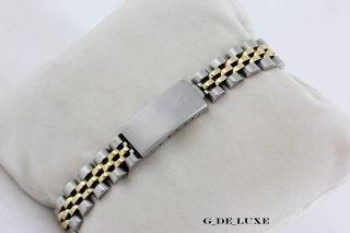 Rolex Datejust Lady Diamant Zifferblatt Stahl / 18 Karat Gold Damenuhr