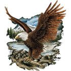 Eagle Adler TATTOO SHIRT American Oldschool Black Marke