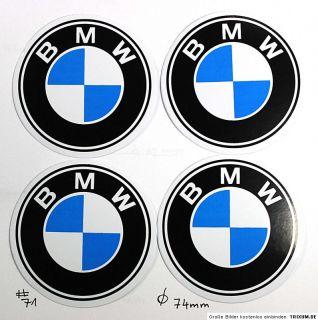 BMW Emblem Felgen Aufkleber Sticker   Ø 74 mm #71