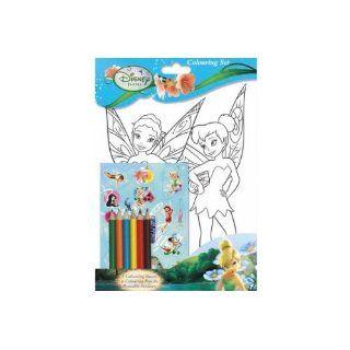 Disney Fairies (Tinkerbell) A4 Farbe Plakate und Aufkleber Set