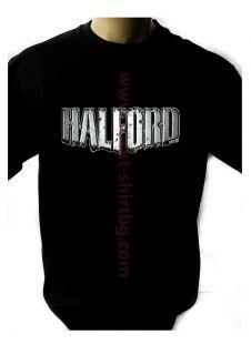 HALFORD LOGO BLACK NEW T SHIRT FRUIT OF THE LOOM DTG