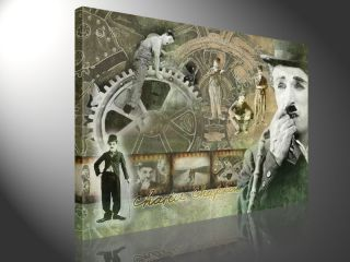 CHARLIE CHAPLIN 100x75cm POP ART DECO BILDER #e2006