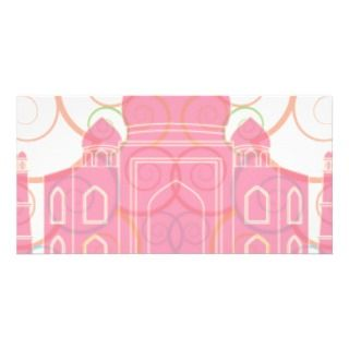 Pink Taj Mahal Picture Card