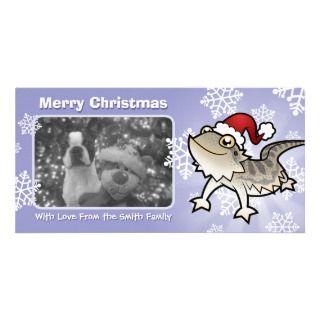 Christmas Bearded Dragon / Rankins Dragon Photo Greeting Card
