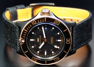 NEW GLYCINE COMBAT SUB AUTOMATIC GOLDEN EYE 3863.399 HERRENUHR NEU