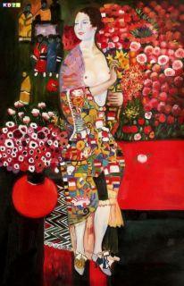 Gustav Klimt   Die Tänzerin d81226 60x90cm handgemaltes Ölgemälde