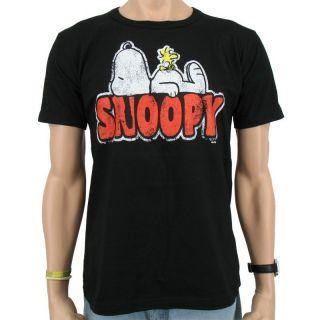 Logoshirt   Peanuts Snoopy & Woodstock T Shirt, black