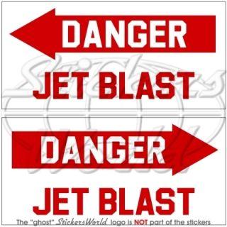 DANGER JET BLAST Flugzeug Hubschrauber USAF Vinyl Sticker Aufkleber