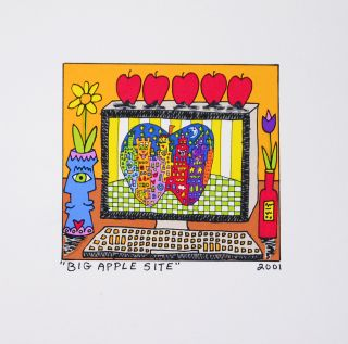 James Rizzi   Big Apple Site   Farblithografie   2D