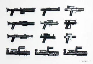 Lego Star Wars / Little Arms   Blaster Minigun Waffen Set