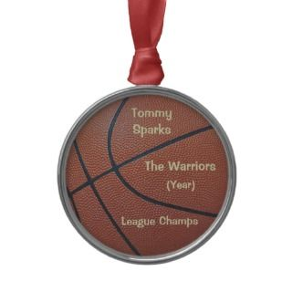 Team Spiritasketball texture_Hoops Lovers award Ornament