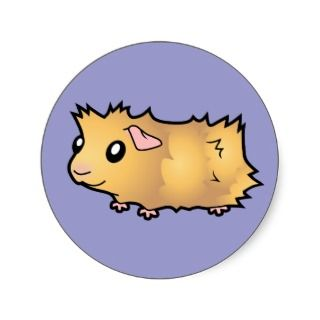 Cartoon Guinea Pig (cream) stickers by SugarVsSpice