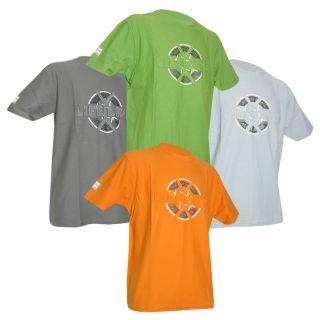 4er SET LIFE LIVE Herren T Shirt HUACAN orange blau gruen grau