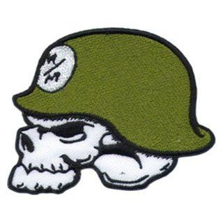 Logo Aufnäher / Iron on Patch  Metal Mulisha Skull Helmet