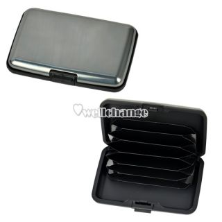 W3LE New Good Aluminum Credit Card Holder Wallet Money Card Case Metal