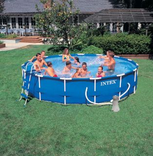 Intex Metal Steel Frame Pool Planschbecken 457 x 91 cm