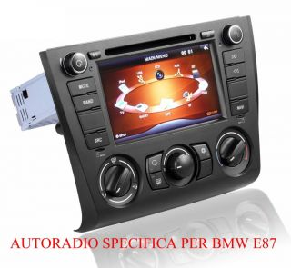 BMW E87 E88 E81 E82 1er Autoradio 7 Touchscreen DVD Navigation GPS BT