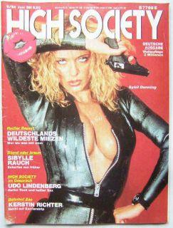 High Society 6/84, Sybi Danning, Kerstin Richter, Sybille Rauch